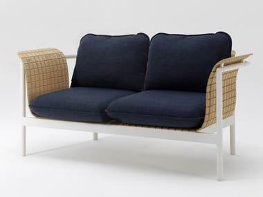2 seater bamboo fibre garden sofa RE-WOOD