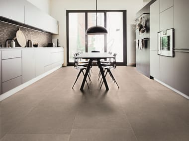 Indoor/outdoor porcelain stoneware wall/floor tiles REALSTONE RAIN