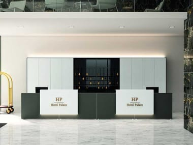 Modular wooden Office reception desk HOTEL E RESIDENCE