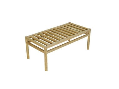 Rectangular teak garden side table WOO SYSTEM | Rectangular coffee table