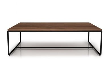 Rectangular walnut coffee table LINEA | Rectangular coffee table