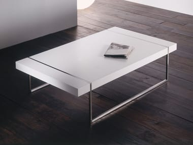 Lacquered rectangular MDF coffee table with storage space MIX | Rectangular coffee table