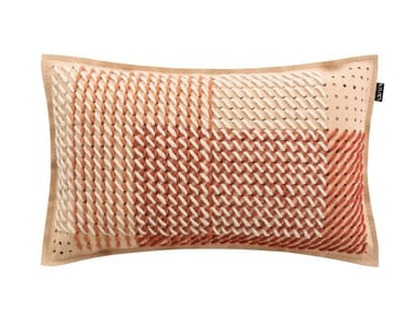 Rectangular fabric cushion CANEVAS GEO CORAL | Rectangular cushion