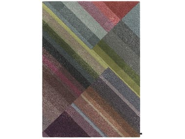 Handmade rectangular wool rug FLOURISH | Rectangular rug