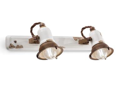 Wall-mounted multiple rectangular ceramic spotlight LOFT | Rectangular spotlight