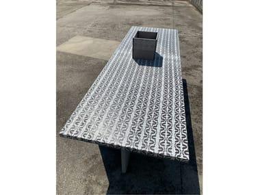 Tavolo da giardino rettangolare in pietra lavica Tavolo rettangolare