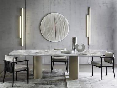 Rectangular marble table ARNE | Rectangular table