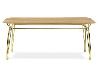 Mesa de jantar retangular de madeira BOTANY | Mesa retangular