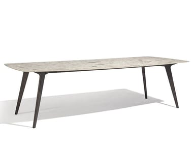 Rectangular ceramic garden table TORSA | Rectangular table