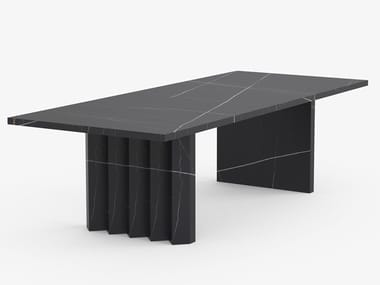 Rectangular porcelain stoneware dining table ATLAS | Rectangular table
