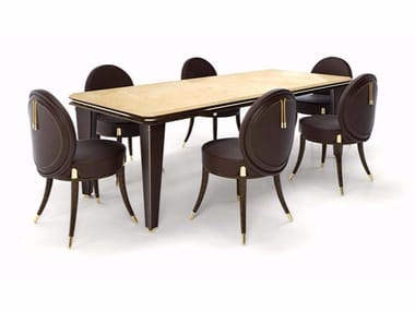 Rectangular marble contract table NOIR | Rectangular table