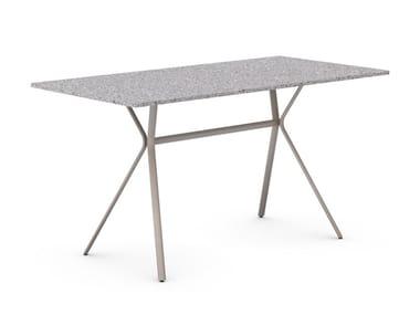 Rectangular iron dining table CURVA | Rectangular table
