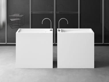 Freestanding rectangular single washbasin FS | Rectangular washbasin