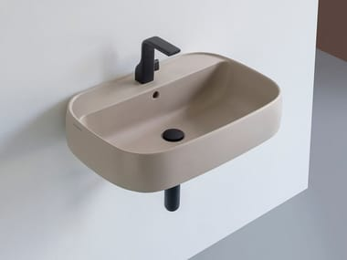 Rectangular ceramic washbasin FLAG | Square washbasin