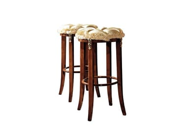 High upholstered fabric stool REGGENZA | High stool