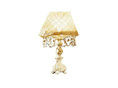 Fabric table lamp with crystals REGGENZA LUXURY | Table lamp