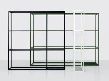 Open sectional metal shelving unit REGOLI