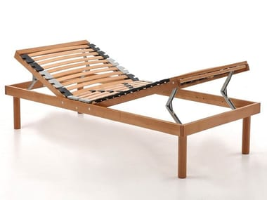 Slatted electric single wooden bed base RELAX | Electric bed base