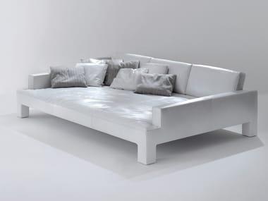 Relaxing 3 seater leather sofa ALTO PIANO | Relaxing sofa