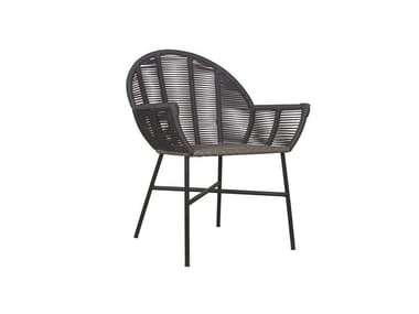 Garden rattan easy chair with armrests REMIX | Rattan easy chair
