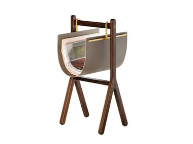 Solid wood magazine rack REN | Magazine rack
