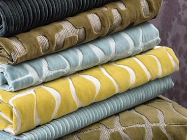 Jacquard velvet fabric with graphic pattern RENDEZ-VOUS - NISYROS