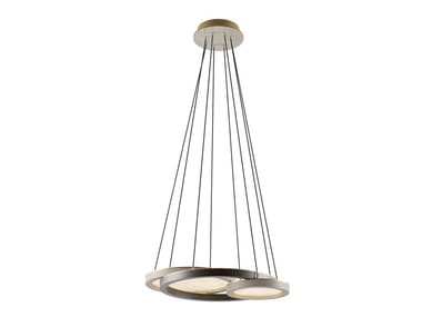 Lampada a sospensione a luce diretta in legno impiallacciato RENNES