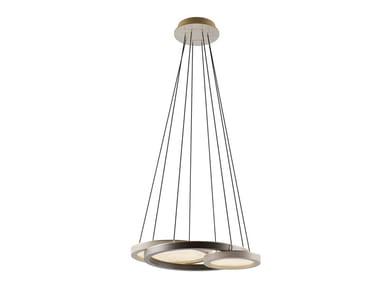Direct light wood veneer pendant lamp RENNES