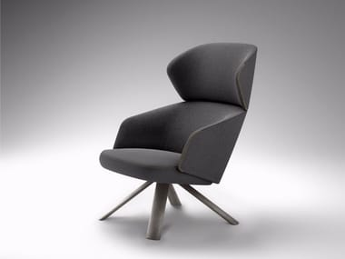 Wing armchair with armrests with headrest REPAUS | Wing armchair