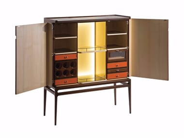 Bar cabinet with integrated lighting REPERTOIRE | Bar cabinet