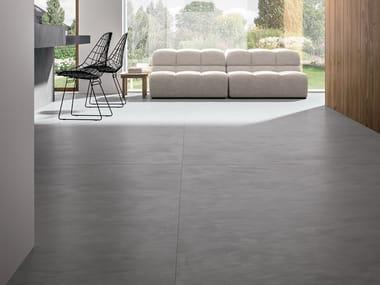 Porcelain stoneware wall/floor tiles with concrete effect RES ART POWDER