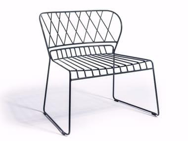 Garden steel easy chair RESÖ | Garden easy chair