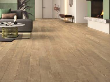 Pavimento/rivestimento in gres porcellanato effetto legno RESORT BEIGE
