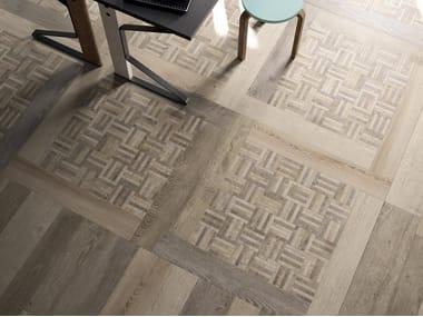 Pavimento/rivestimento in gres porcellanato effetto legno RESTYLE BEIGE