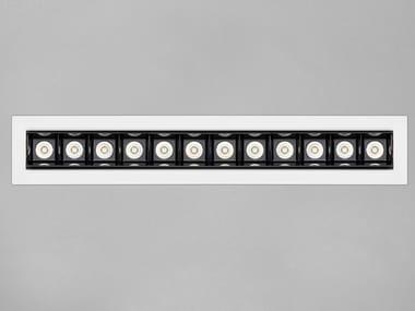 Anodized aluminium LED light bar RETICOLO 12