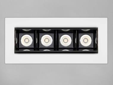 Anodized aluminium LED light bar RETICOLO 4