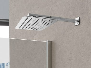 Wall-mounted rectangular overhead shower with arm RETTANGOLO