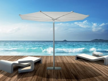 Round powder coated aluminium Garden umbrella REVO 3