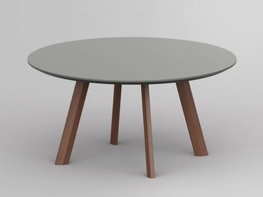 Tavolino basso rotondo in linoleum RHOMBI | Tavolino