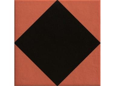 Pavimento/rivestimento in gres porcellanato smaltato RHOMBUS BLACK