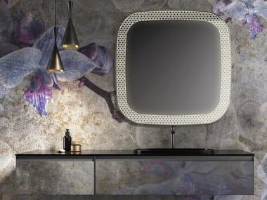Miroir carré avec éclairage intégré pour salle de bain RI-TARTTI | Miroir carré