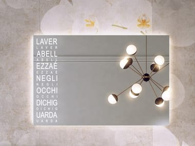 Espelho retangular com luzes integradas para banheiro RI-TRATTI | Espelho retangular
