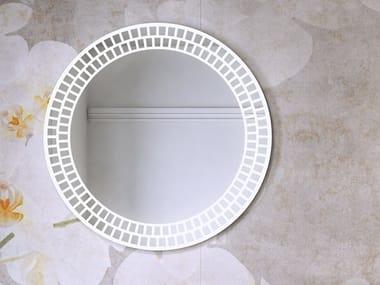 Espelho redondo com luzes integradas para banheiro RI-TRATTI | Espelho redondo