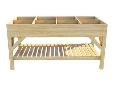Low rectangular fir planter RIALZATA