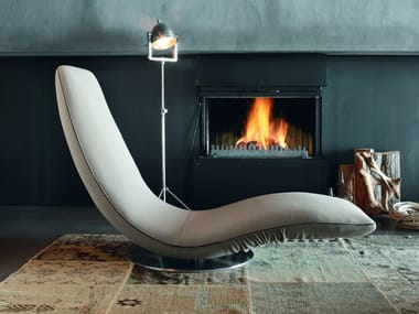 Leather armchair / Chaise longue RICCIOLO | Leather armchair