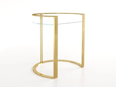 Table basse / Tables de chevet en fer et verre RICHARD