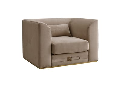 Upholstered fabric armchair with armrests RICHMOND   Armchair