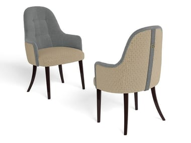 Upholstered fabric chair with armrests RICHMOND | Chair with armrests