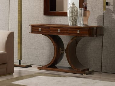 Rectangular wooden console table with drawers RICHMOND | Wooden console table