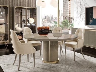 Lacquered round wooden table RICHMOND   Lacquered table